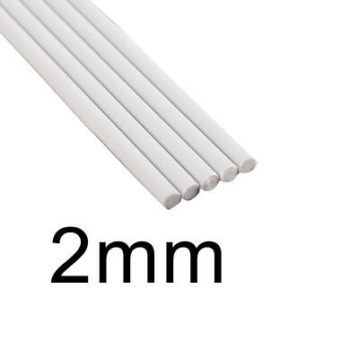 White ABS Rod Rod Solid Tube 2mm-6mm 5pcs Plastic Table Model Round Useful Sale