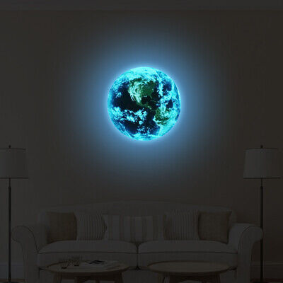 "3d ""Earth"" Raum Mond Planet Wand Sticker Himmel Aufkleber Vinyl Deko"