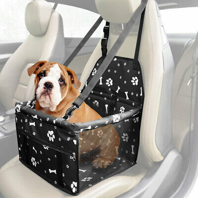 Pet Car Booster Seat Dog Cat Portable Breathable Safety Bag w/ Seat Belt Travel