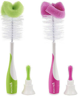 Munchkin Sponge Bottle Brush 2 pack - Assorted Colors 16021,16031