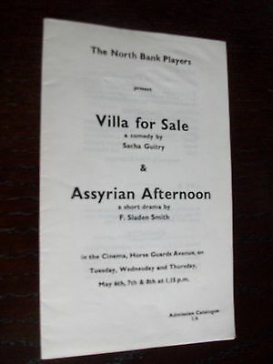 The North Bank Players Present VILLA FOR SALE & ASSYRIAN AFTERNOON