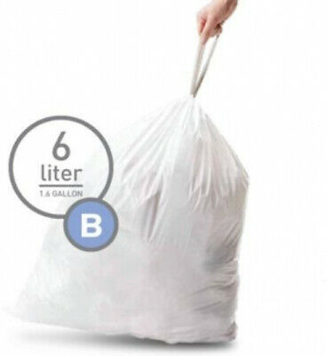 Simplehuman Bin Trash Can Bags Liners New 6l Litres Size B Box Pack of 30