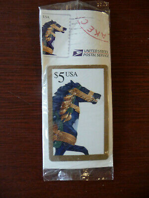 Vintage USPS Pre Paid Phone Card Carousel Horse Unused Exp 1997 Sealed