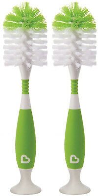 Munchkin Bristle Bottle Brush, Green, 2 Pack