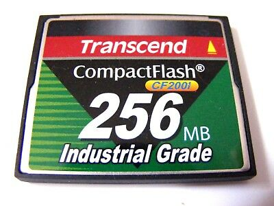 256MB Compact Flash Card Industrial Grade ( 256 MB CF ) TRANSCEND gebraucht