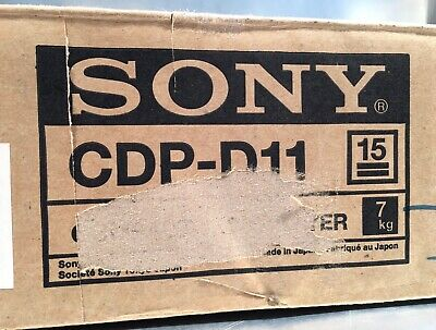 "SONY CDP-D11 CD Player 19"" 1HE unbenutzt in OVP"