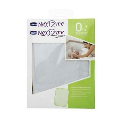 Chicco Hygenic Terry Cubierta Colchón - Next2me (Blanco) Suave & Protector