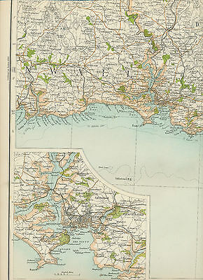 2310 1898 MAP of Royal Atlas England & Wales Pl.50 PLYMOUTH (Devonshire)