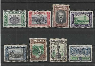 SOUTHERN RHODESIA 1940 GOLDEN JUBILEE SET SG.53-60 GOOD to FINE USED