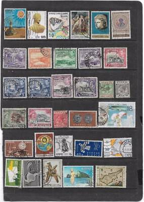 OLD BRITISH EMPIRE CYPRUS KING GEORGE 5th ON-WARDS USED COLLECTION