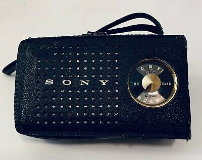 Vintage Sony AM/SW  7 Transistor Radio Model TR-724 Working Leather Cover