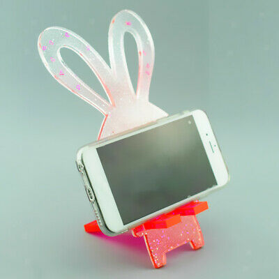 DIY Silicone Mold Resin Crystal Casting Phone Holder Stand Jewelry Making