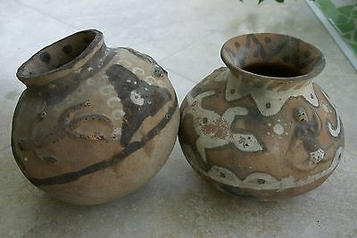1980's Rare Old Hand Crafted Timor Vermasse Terracotta Pottery Pot Motif CHOICE