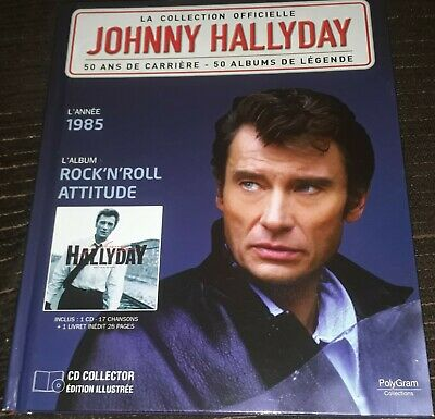 Johnny Hallyday Livre + Cd Rock N Roll Attitude De La Collection Officielle