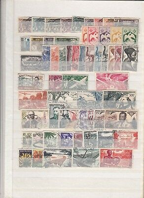 French colonies Equatorial Africa used stamps (CV $95 EUR78)
