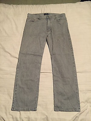 "Mens Marks & Spencer Blue Harbour Grey Jeans Size 36"" Waist, 31"" Leg Great Cond"