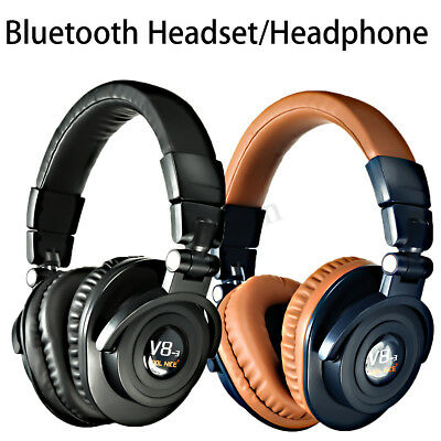 Wireless bluetooth Headphone Foldable Headset Stereo Bass Earphones Handfree Mic