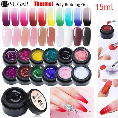 UR SUGAR 15ml Thermal Quick Extension UV Gel Polish Nail Finger Building Tools