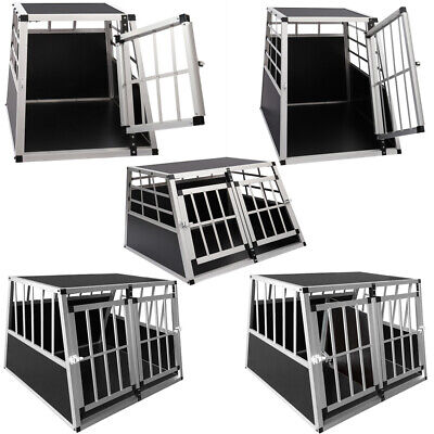 Aluminium Dog Pet Puppy Cage Kennel Car Auto Travel Transport Crate Carrier Box