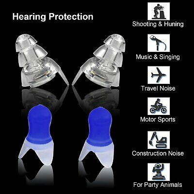 2 Pairs Noise Cancelling Ear Plugs Hearing Protection for Sleeping Concert Party