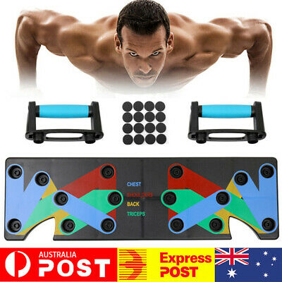 Gym Push Up Stand Bar Board Power Press Grip Handle Muscle Training Workout AU