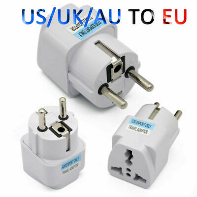 New Portable Travel Converter UK US AU to EU European Power Socket Plug Adapter