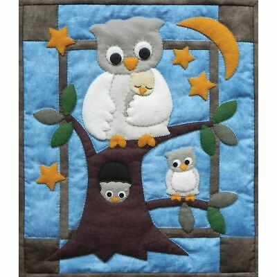 """Rachel's Of Greenfield Wall Quilt Kit 13""""X15""""-Owl Family"""