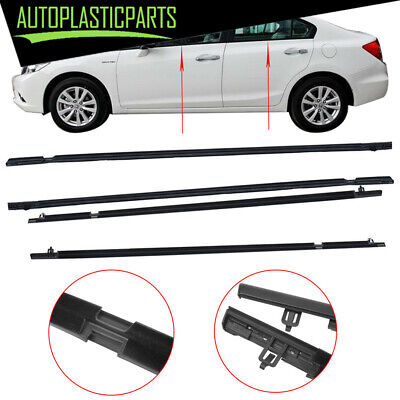 4x Car Outside Window Moulding Weatherstrip Seal Belt for Honda Civic 2006-2011