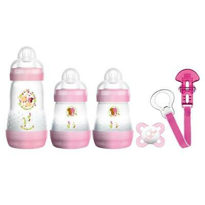 MAM Welcome To The World Set (Rosa) Include Anti-colica Bottiglie