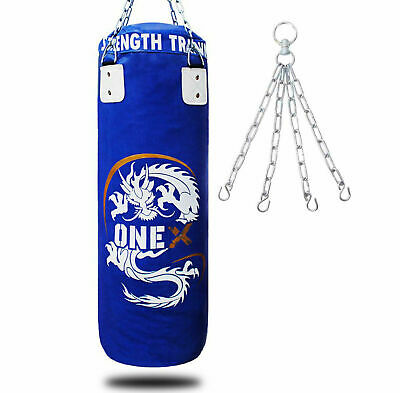 4ft Onex Punch Bag Boxing Set 3FT 4FT 5FT Filled Heavy Gloves Wall Bracket Chains Training MMA 15Pieces Punching Bags