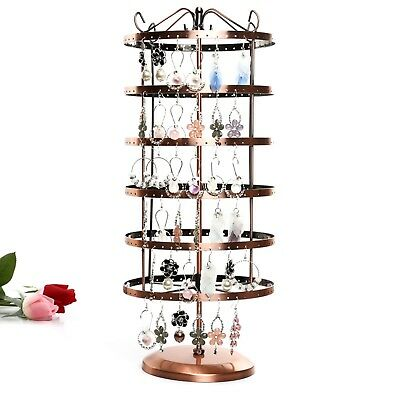 1X Copper Revolving 6-Layer Earring Display Rack-144 pairs