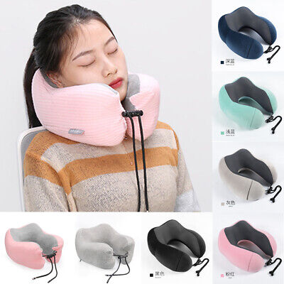 U Shaped Car Air Travel Neck Pillow Slow Rising Memory Foam Cushion Headrest Lot