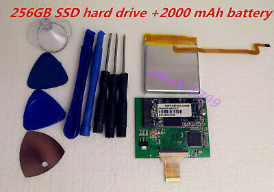 "256GB SSD Upgrade 160GB Hard Drive 1.8"" MK1634GAL ZIF for Classic 7th +Battery"