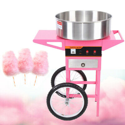 Candy Floss Making Machine Cart Cotton Sugar Candyfloss Maker Party 1300W, Ø52cm