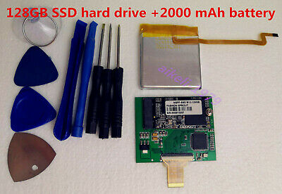 "128GB SSD Upgrade 160GB Hard Drive 1.8"" MK1634GAL ZIF for Classic 7th +Battery"
