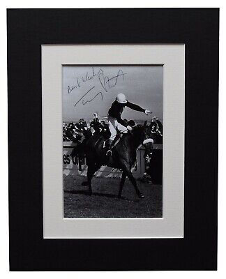 Tommy Stack Signed Autograph 10x8 photo display Grand National Red Rum COA