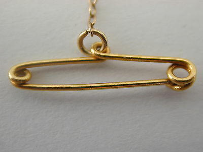 Antique yellow gold safety chain 75mm 0.4g