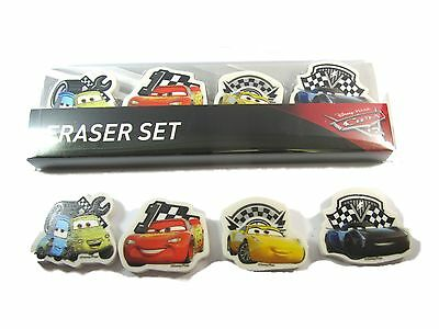 CARS Stationery 8 x School ERASER Rubber Set Party Bags Lightning McQueen
