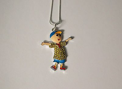Unwanted TIN TIN Inspired Large Charm Gift NECKLACE With Rhinestones