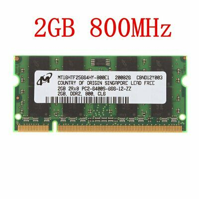 2GB / 1GB PC2-6400S DDR2-800MHz 2RX8 200Pin SODIMM Laptop RAM For Micron LOT UK