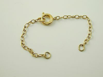 9 Carat Gold Bolt Ring safety Chain 0.4 grams 75.0mm long