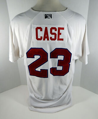 2018 Buffalo Bisons Andrew Case #23 Game Used White Jersey