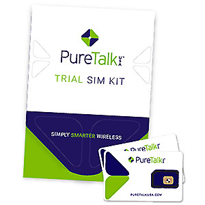 Pure Talk TRIAL SIM KIT- 7-Day - No Contract Wireless - Prepaid - GSM Compatible