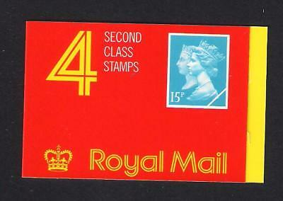 GB 1990 First Class Double Heads Barcode Booklet JA1, MNH