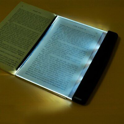 LED Light Wedge Eyes Protect Panel Book Reading Lamp Paperback Night Vision DE