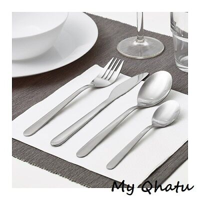 Ikea 16 pieces Stainless Steel flatware set silverware Knife fork spoon MOPSIG