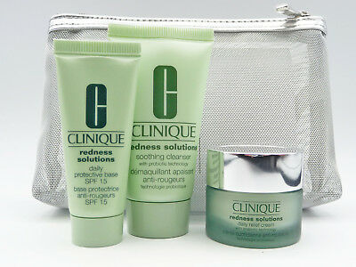 Clinique Redness Solutions Set Cleanser Daily Protective Base & Relief Cream