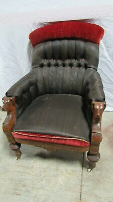 Antique Mahogany Carved Dog Chair