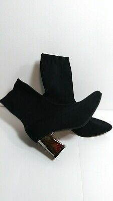 494443ca7c ZARA NEW FLORAL Sock Fabric Kitten High Heel Ankle Boots 1113/201 Us ...