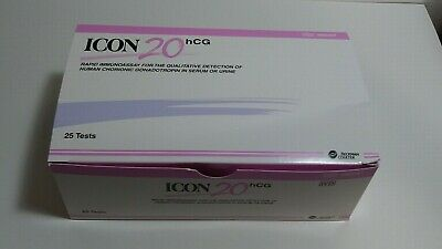 New Beckman Coulter Icon 20 hCG Pregnancy Test REF #395097